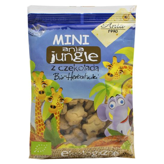 HERBATNIKI MINI JUNGLE Z CZEKOLADĄ 100 G BIO ANIA