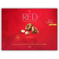 PRALINY MLECZNE Z ORZECHAMI RED -35% KCAL 135G CHOCOLETTE