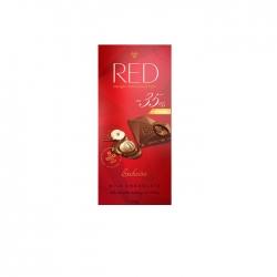 CZEKOLADA MLECZNA NADZIENIE ORZECHOWE RED -35%KCAL 110G CHOCOLETTE